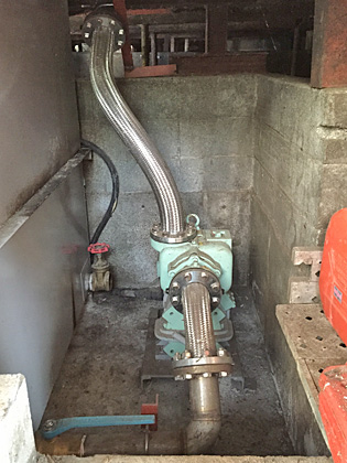 >Installation site of Greedy® Pump:the photo shows model GRY-80.